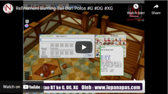 refinement burning tail normal to G to DG to XG